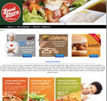 Website Theme for food and beverage
